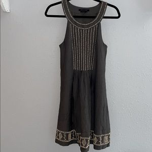 BCBG wooden bead accent dress